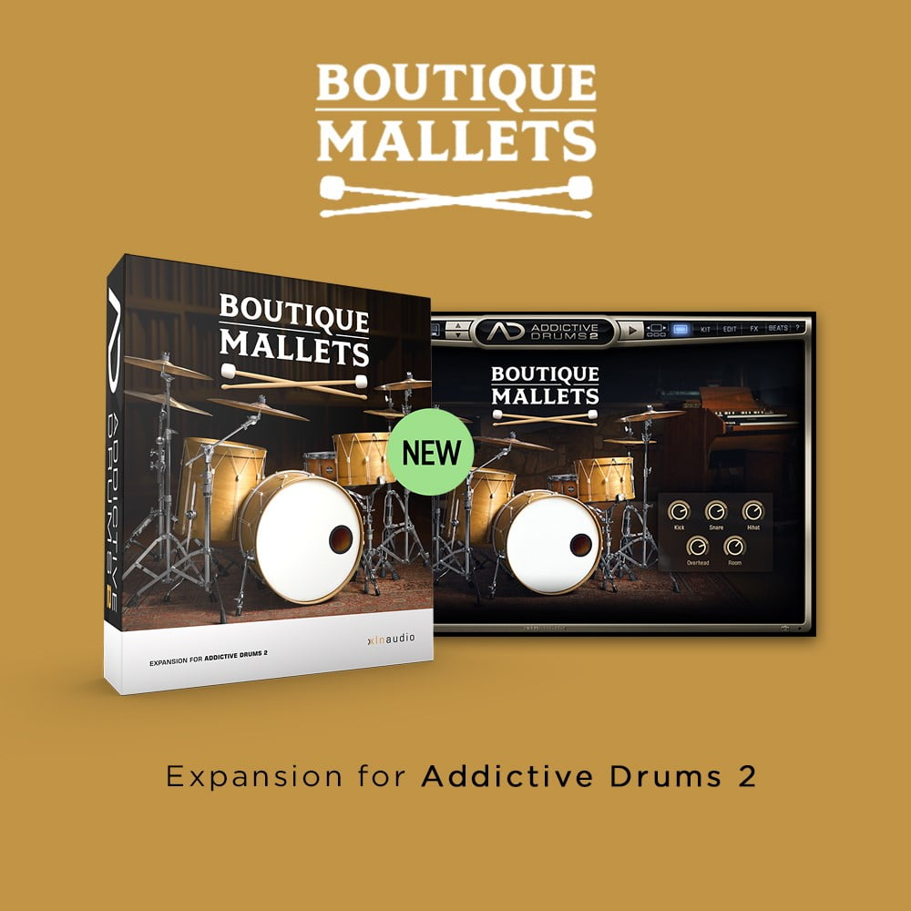 Boutique Mallets ADpak for XLN Audio Addictive Drums 2 released