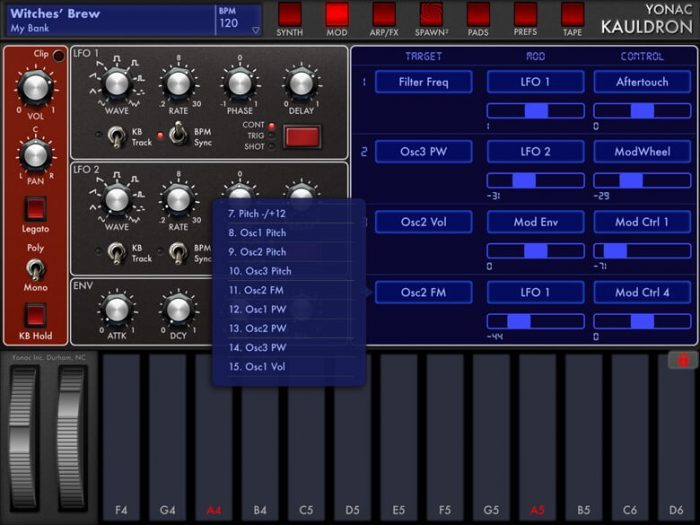 Yonac Kauldron modulation