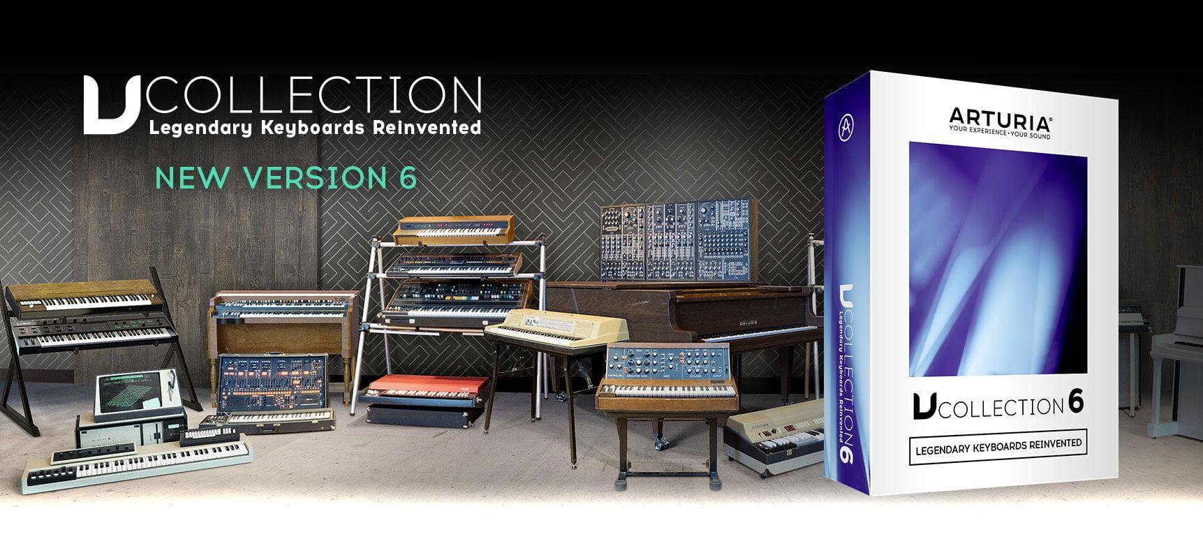 Arturia v collection 6 software instrument bundle (download