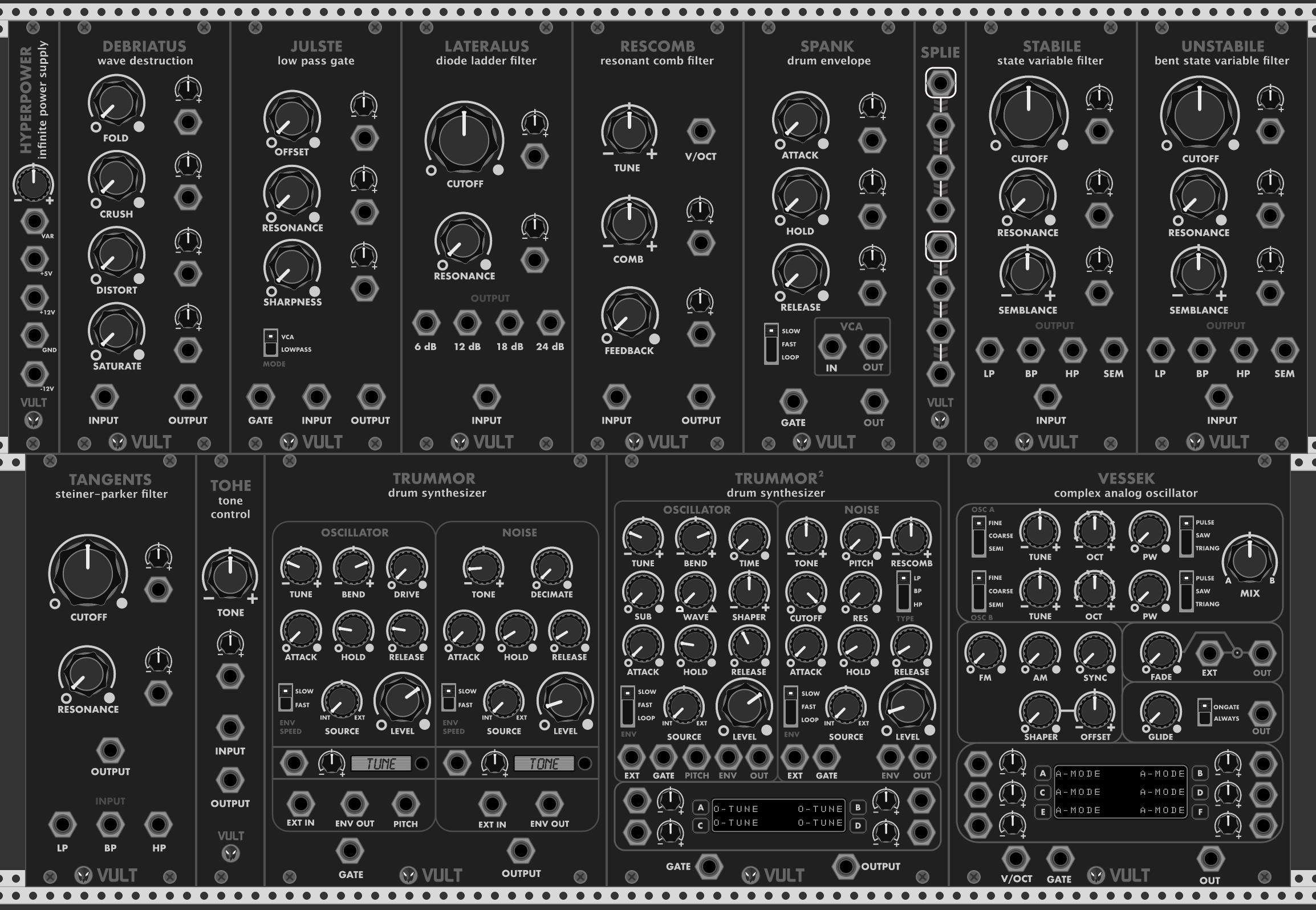 VCV Console mixer released + Hot Bunny, Vult modules, Stellare