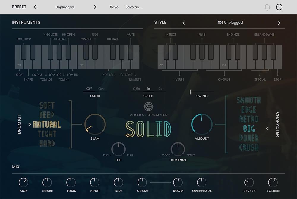 Virtual Drummer: Solid, Phat & Heavy virtual instruments