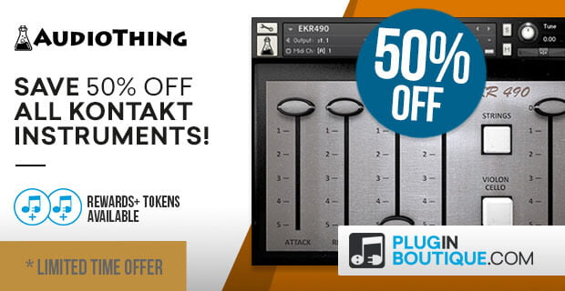 AudioThing 50 off Limited PluginBoutique