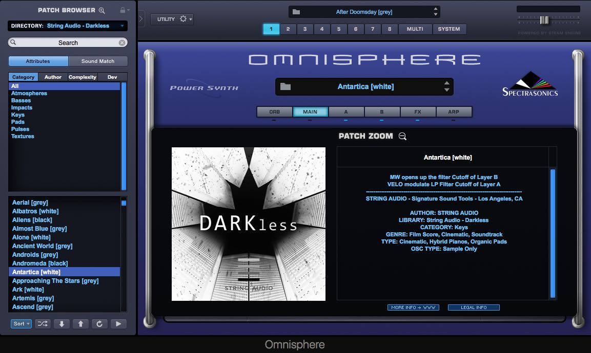 String Audio releases DARKless sound library for Omnisphere 2