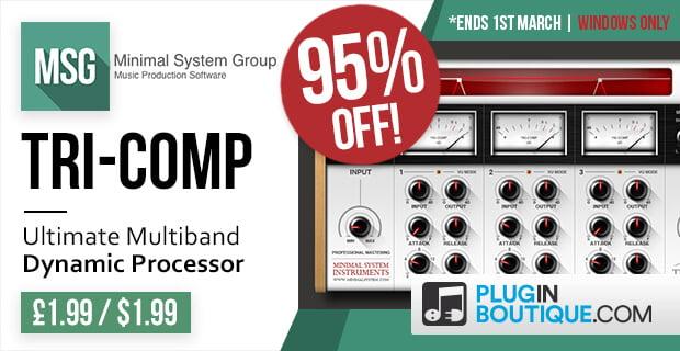 Tri-Comp Multiband Compressor VST plugin on sale for £1 99 GBP