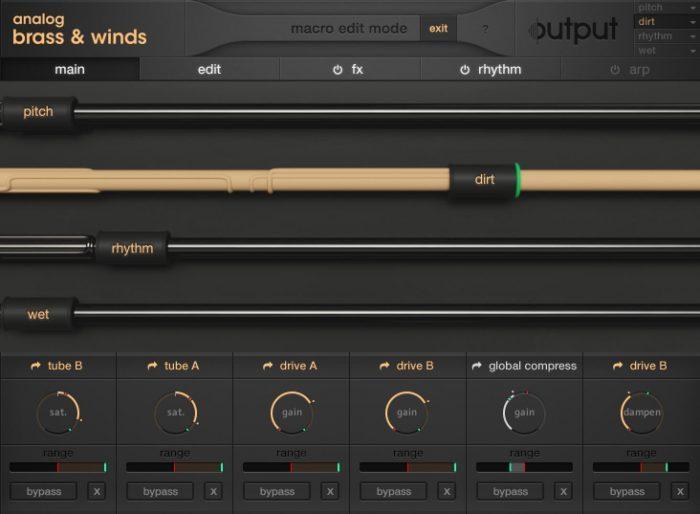 Output Analog Brass & Winds Macros