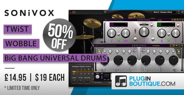 Sonivox Twist, Wobble & Big Bang Universal Drums