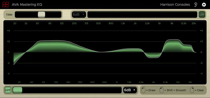 Harrison Consoles AVA Mastering EQ gold