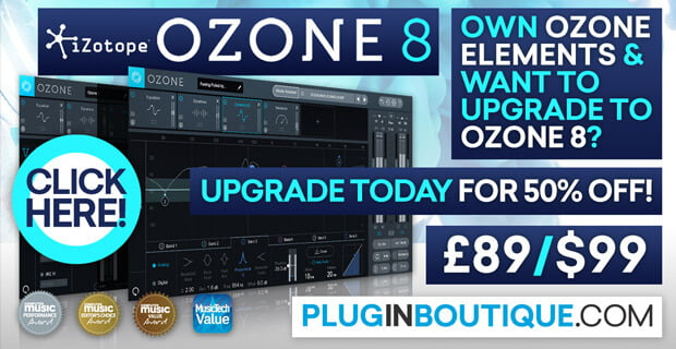 Save up to 70% off iZotope upgrades to Ozone 8 & Neutron 2