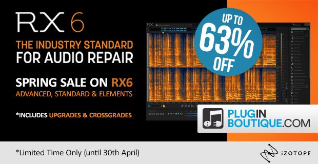 iZotope RX 6 & RX Post Production Suite up to 63% OFF for