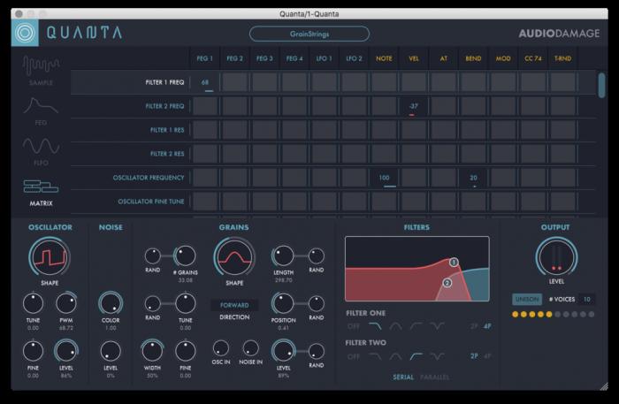 Audio Damage Quanta matrix