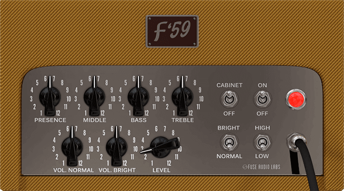 Fuse Audio Labs F 59 screen