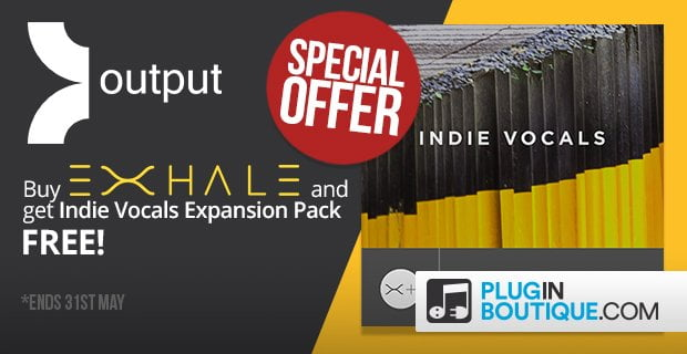 Get free Indie Vocals expansion with Output Exhale vocal engine