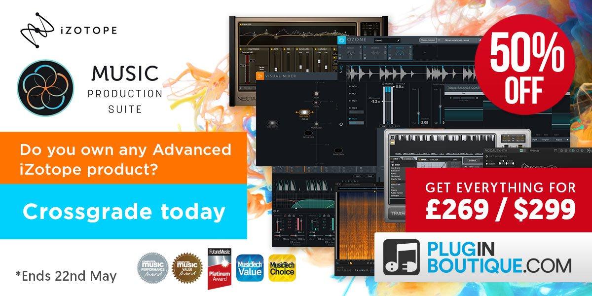 Save 50% off iZotope O8N2 Bundle, Ozone 8 & Music Production Bundle 2