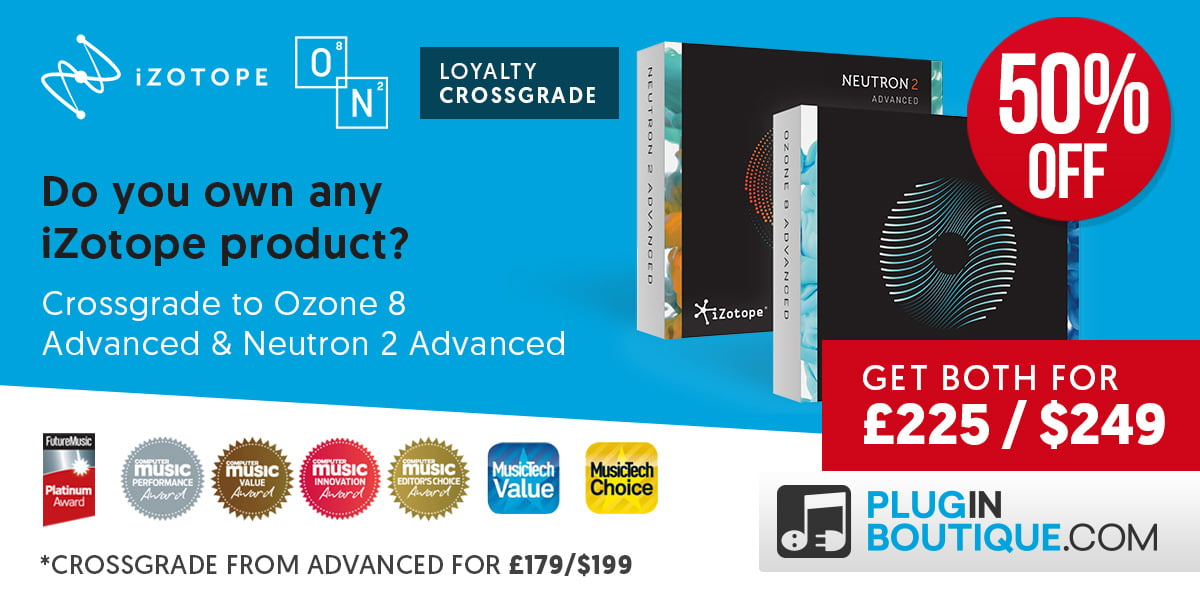 Save 50% off iZotope O8N2 Bundle, Ozone 8 & Music Production Bundle 2