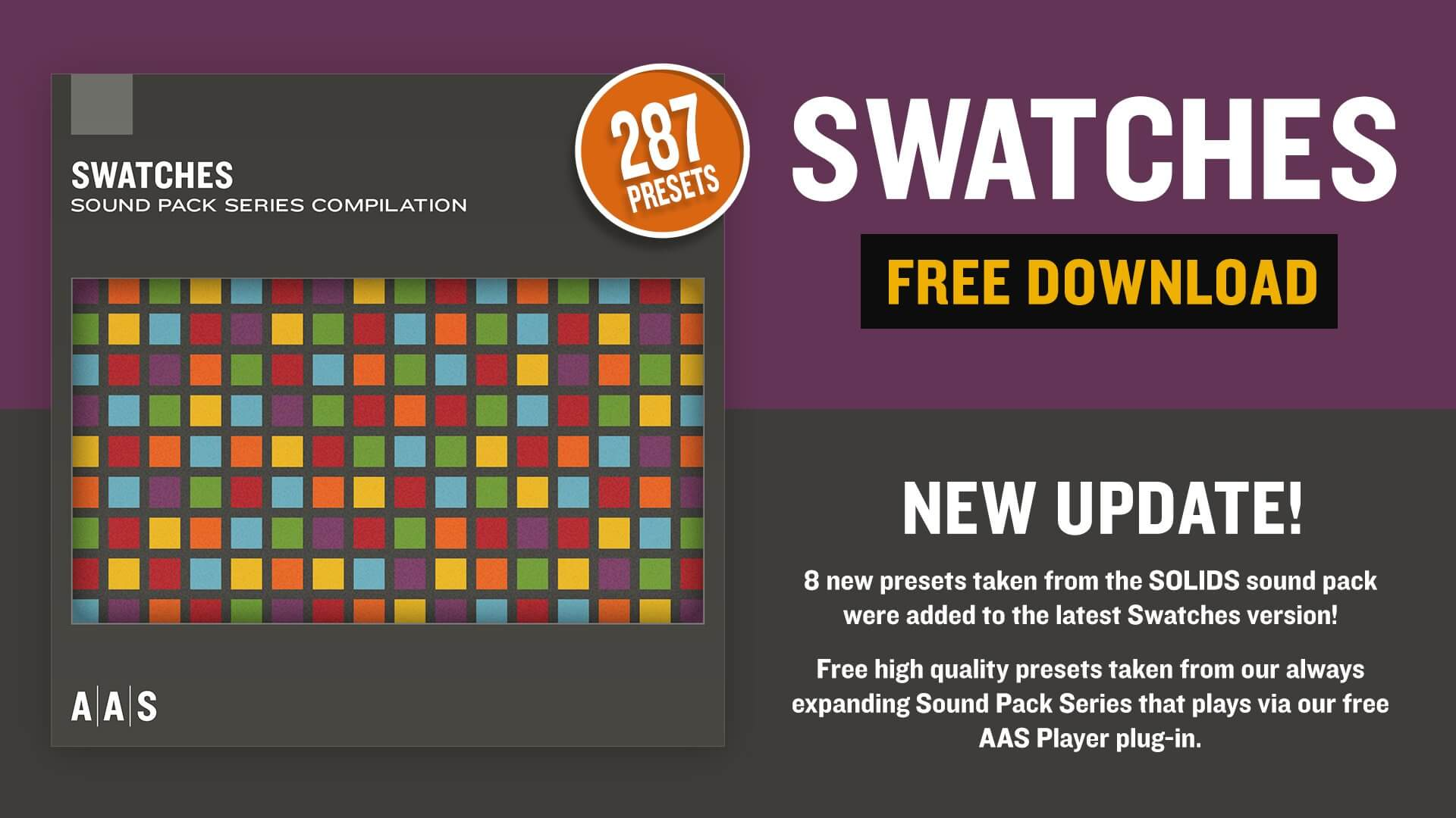 AAS Swatches FREE Sound Bank Series compilation updated