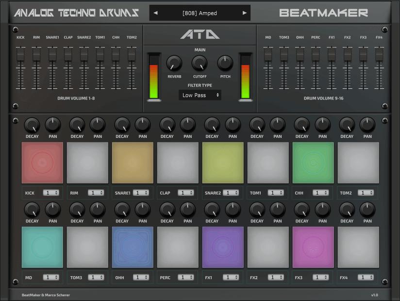 BeatMaker releases Analog Techno Drums VST/AU plugin