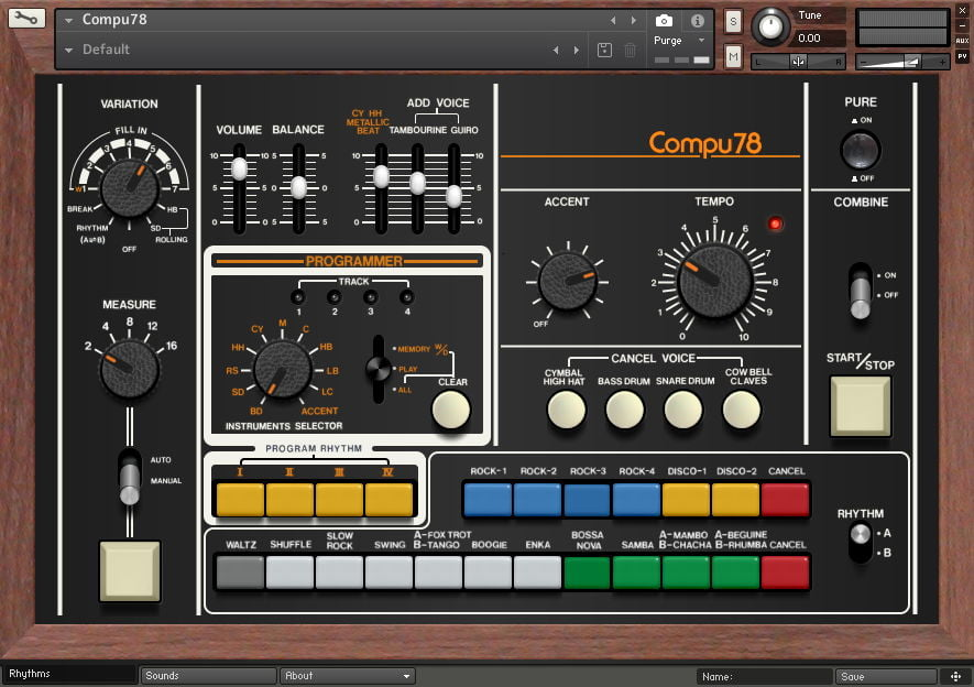 forgotten keys releases compu78 drum machine for kontakt. Black Bedroom Furniture Sets. Home Design Ideas