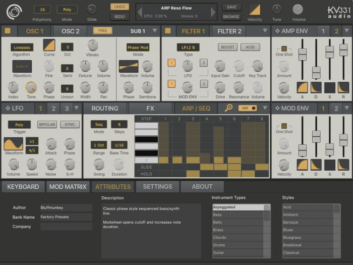 KV331 Audio SynthMaster One iOS arp