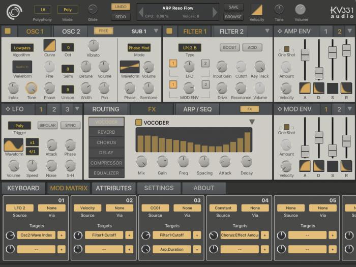 KV331 Audio SynthMaster One iOS fx