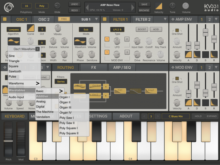 KV331 Audio SynthMaster One iOS routing