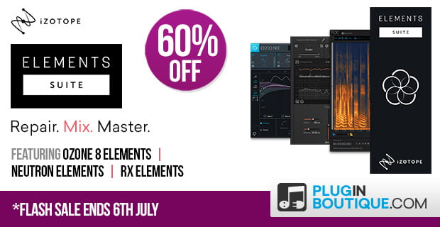 iZotope Elements Suite plugins bundle 60% off in Flash Sale