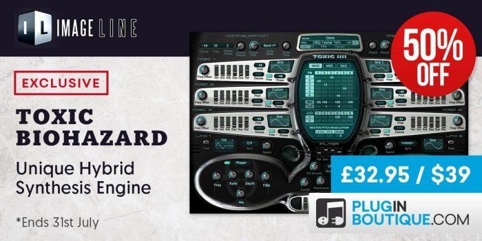 Save 50% off Toxic Biohazard synthesizer plugin (VST/AU)
