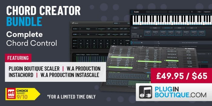 Chord Creator Bundle: Scaler, InstaChord & InstaScale at 60% OFF!