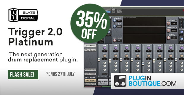 Slate's Trigger 2 Platinum drum replacement plugin 35% OFF!