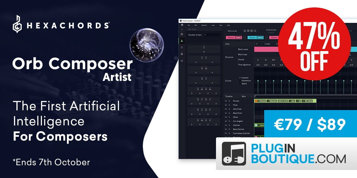 Hexachords Orb Composer Artist AI-powered music composition software