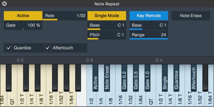 PreSonus Studio One 4.1 Note Repeat Tool
