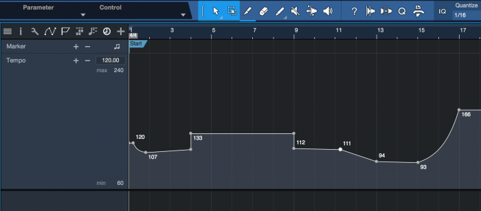 PreSonus Studio One 4.1 Tempo Track