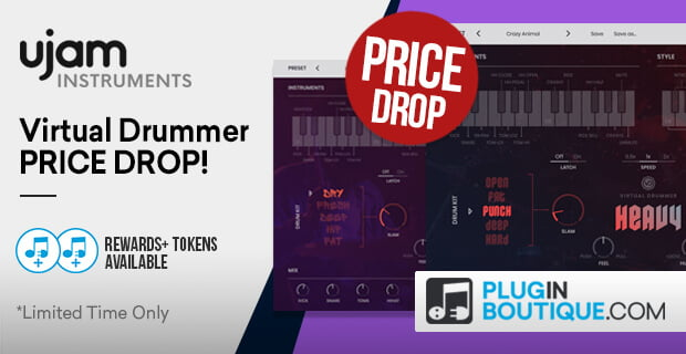UJAM drops price on its Virtual Drummer instruments
