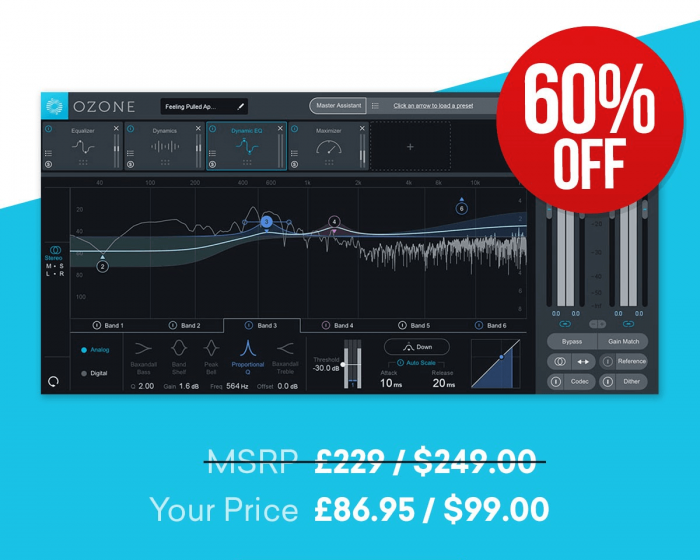 Save 60% off iZotope Elements Suite & Ozone 8 Standard