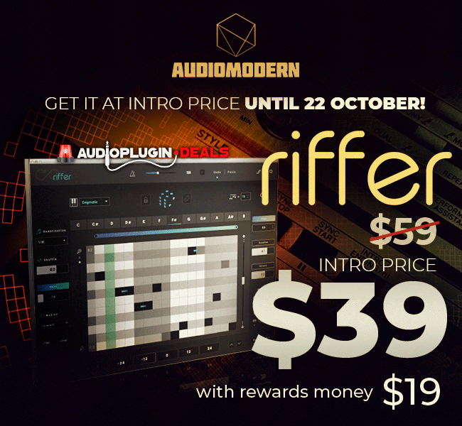 Use your rewards to get Audiomodern Riffer for $19 99 at