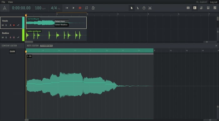 Amped Studio 2.0 Audio Editor Note Detection