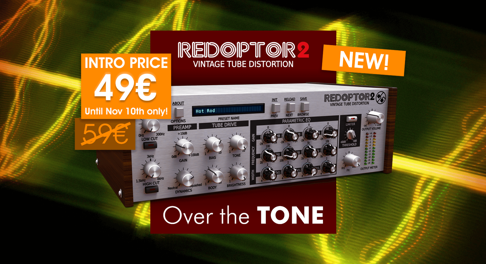 D16 Group Releases Redoptor 2 Vintage Tube Distortion Plugin