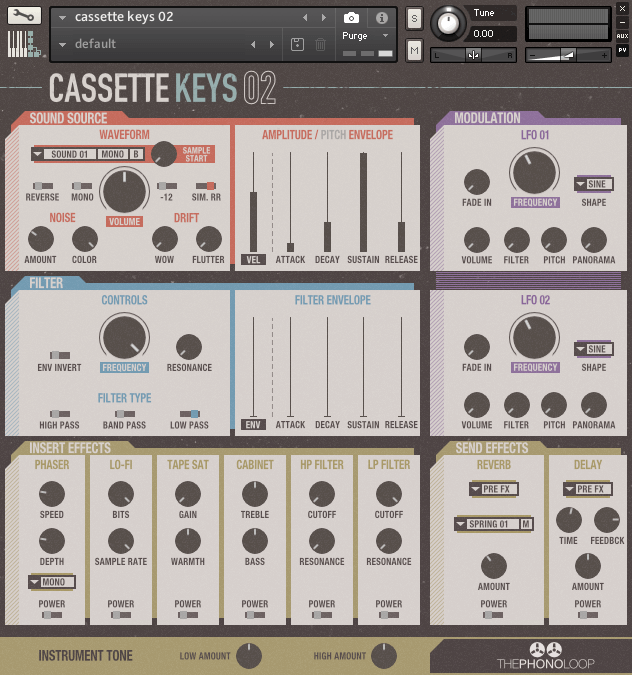 THEPHONOLOOP Cassette Keys.02 for Kontakt