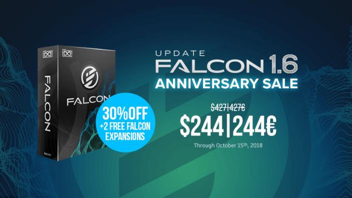 UVI updates Falcon to v1 6 + 30% OFF Anniversary Sale incl  FREE