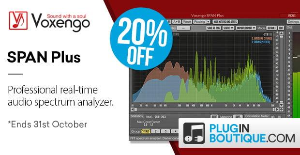 Voxengo SPAN Plus spectrum analyzer plugin 20% OFF