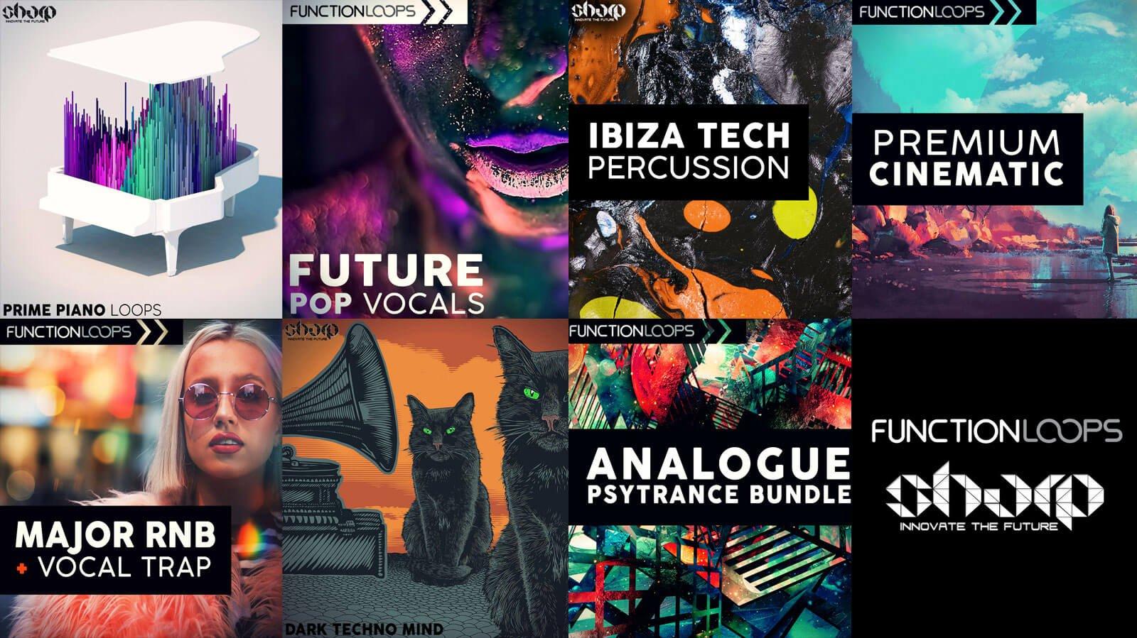 Prime Piano Loops, Future Pop Vocals, Ibiza Tech Percussion & more