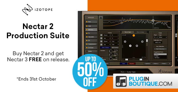Save up to 50% off iZotope Nectar 2 Production Suite (incl