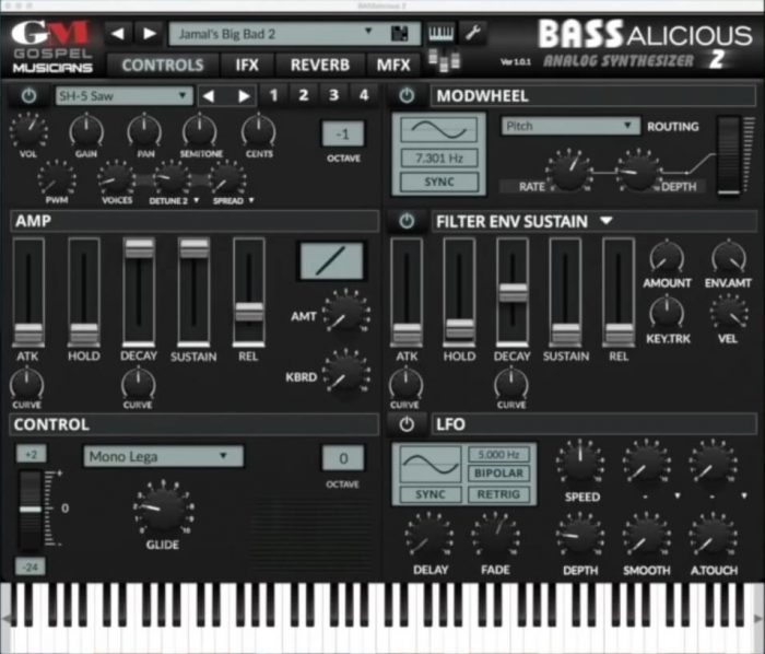 Save 75% off BASSalicious 2 synth plugin by Gospel Musicians
