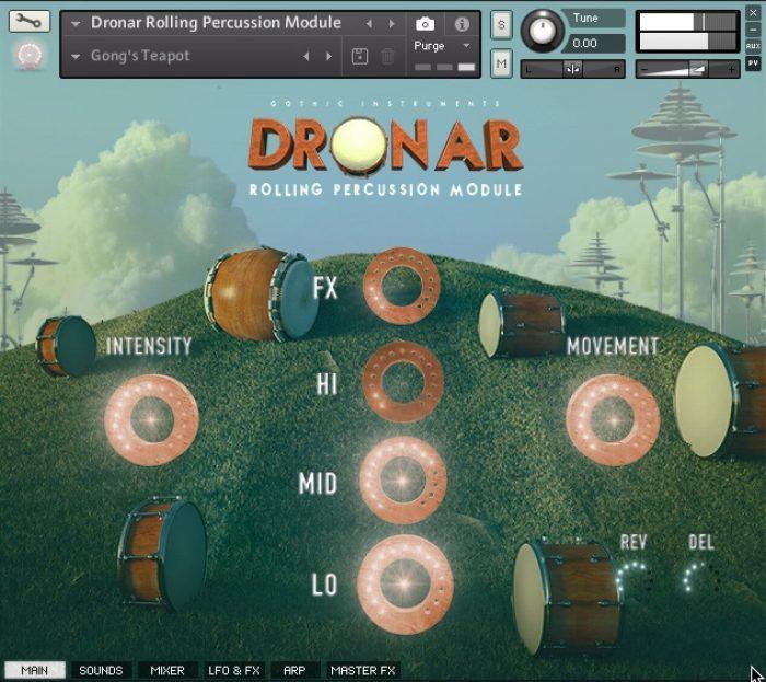 Gothic Instruments DRONAR Rolling Percussion Module GUI