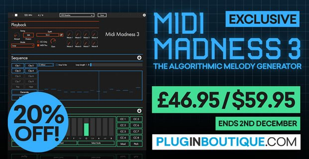 Midi Madness 3 Black Friday Sale: Save 20% off the MIDI generator