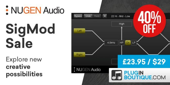 Nugen Audio Sigmod sale Black Friday