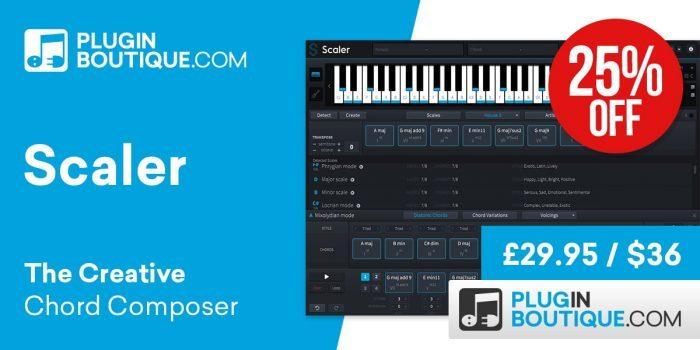 Save 25% off Plugin Boutique's Scaler Creative Chord Composer