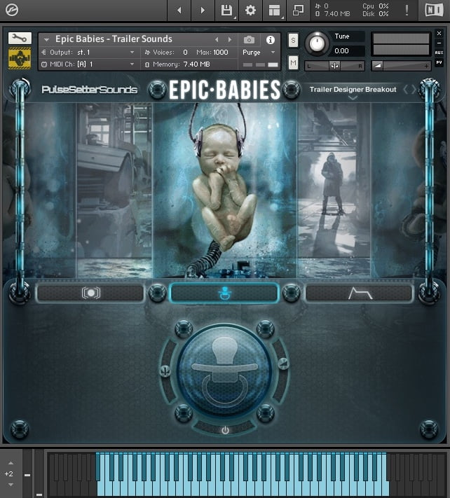 Pulsesetter Sounds Epic Babies GUI