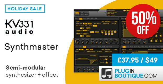 Synthmaster 50% off