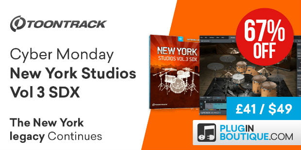 Toontrack New York Studios Vol 3 SDX Cyber Monday