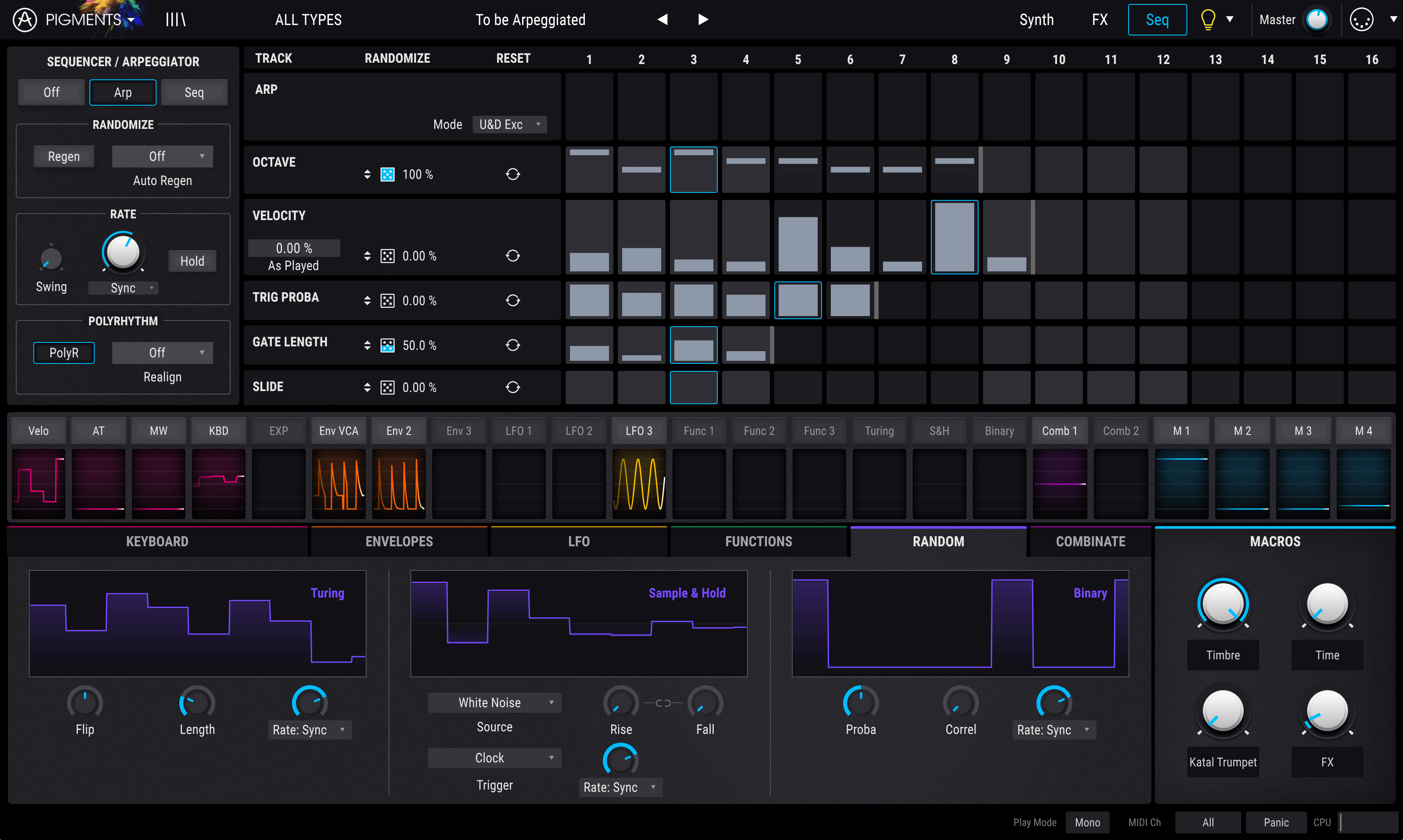 Pigments is Arturia's new wavetable and virtual analog